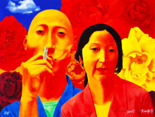 Fang Lijun: artists who is standing in the middle line between traditional and modern practice