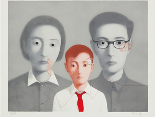 Zhang Xiaogang makes art that is as much about himself as it is about China's past.