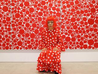 Avant-garde Japanese artist Yayoi Kusama