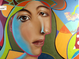 """Street Artist's """"Neo Post Cubism"""" Graffiti Combines Cubism with Realism"""