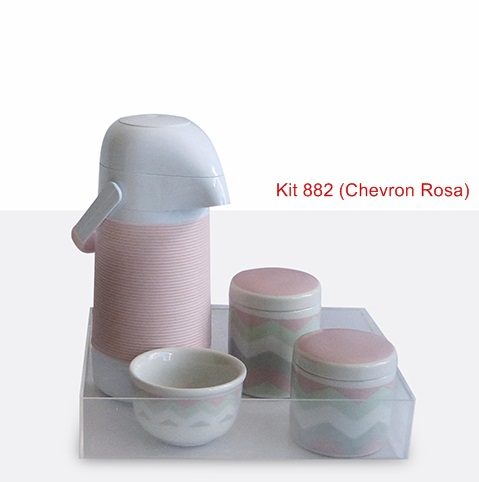 Kit 882 Chevron Rosa Cristal