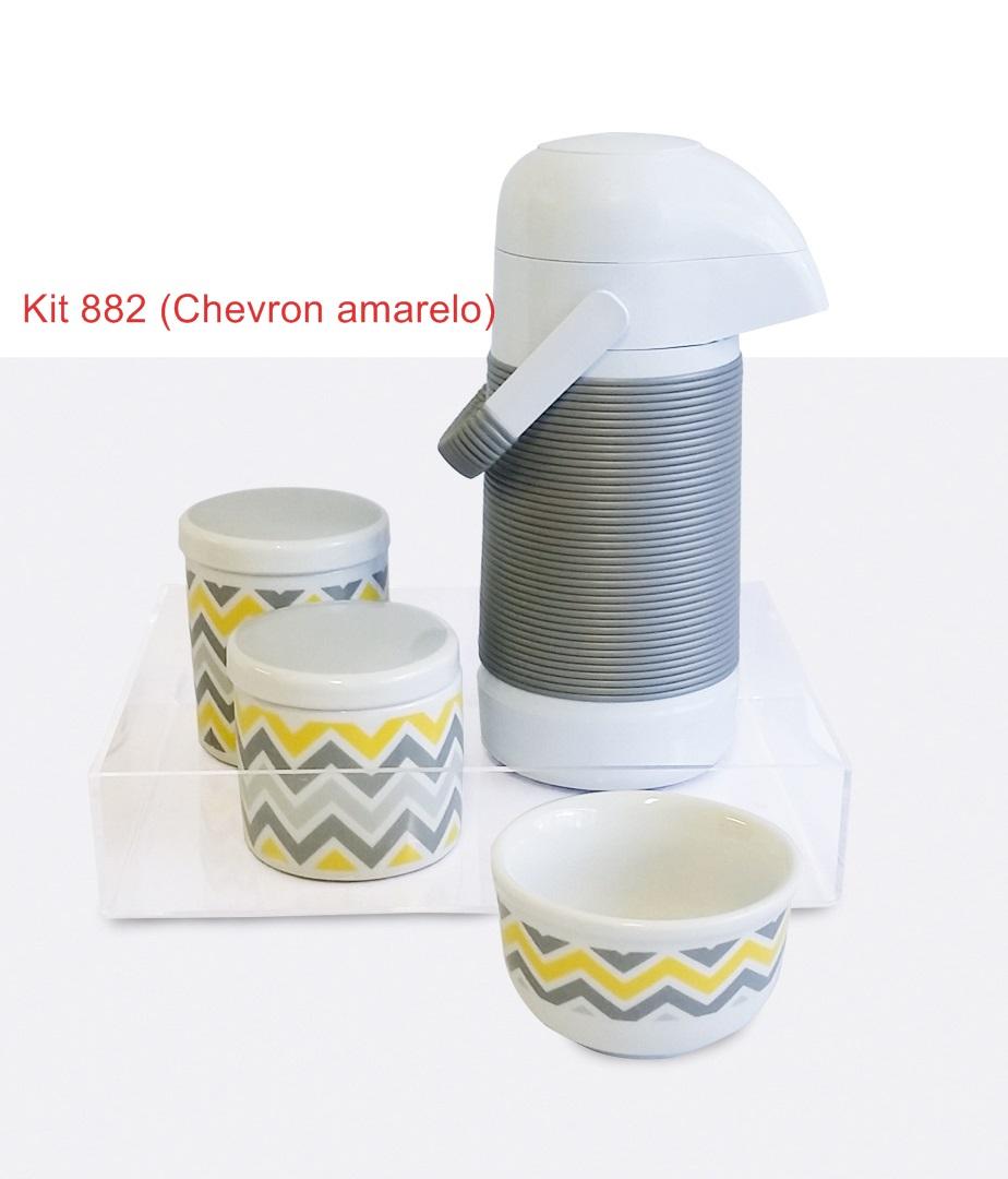 Kit 882 Chevron Amarelo Cristal