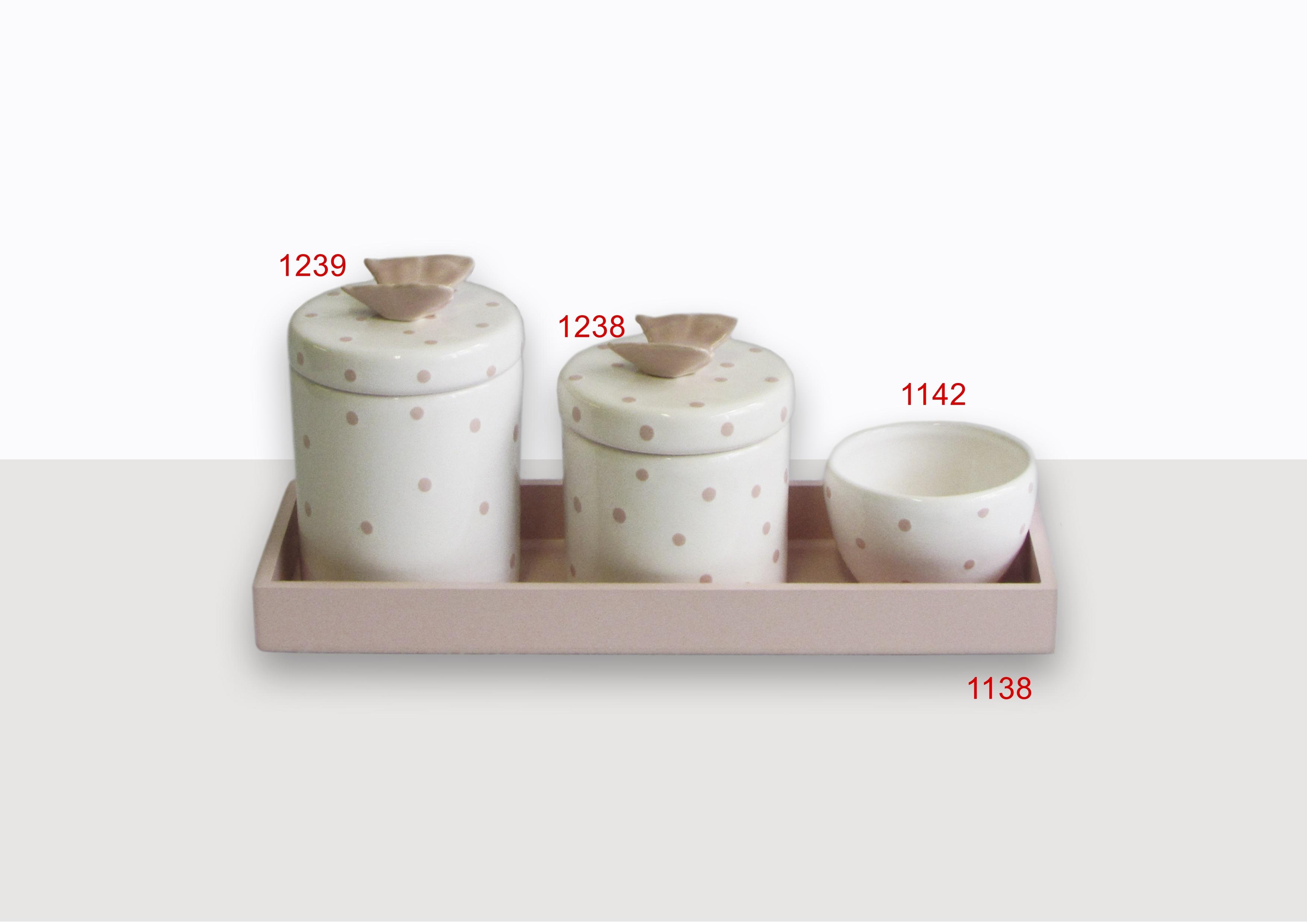 Potes Cerâmica Poá Borboleta