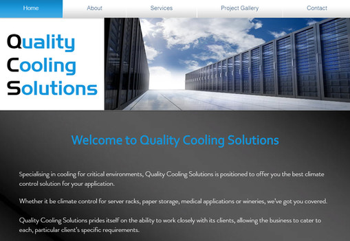 Quality Cooling Solutions Website