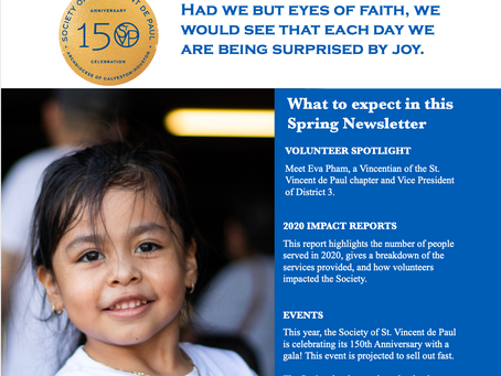 Society of St. Vincent de Paul's Spring 2021 Newsletter Now Available
