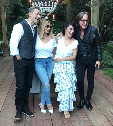 Los Angeles photo shoot at the home of contributor Mohamed Hadid. In the photo are Lama Bazzari,Yasmine Al Massri and Waleed Zuaiter