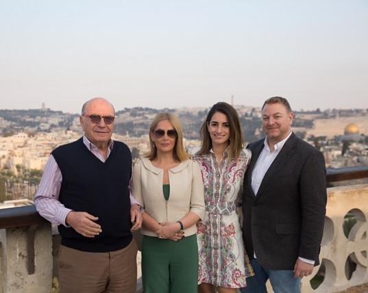 Zahi Khouri, Lama Bazzari, Raya and Omar Sbitany at the Jerusalem Supper Club