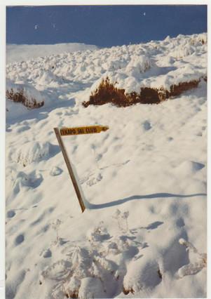 Ski Club Hut Sign