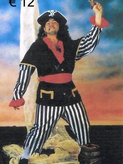 Piraat heer zwart gestreepte broek def.j