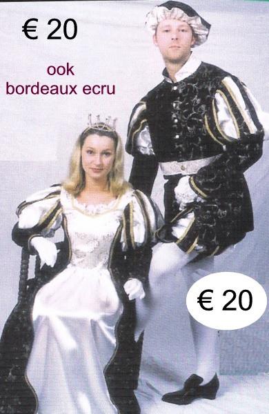 Prins - prinses zwart - ecru  en ook bor