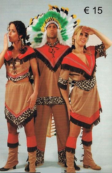 Indiaan  heer beige - Indiaan dame kleed