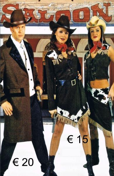 Cowboy heer jas bruin - dame kort kleedj