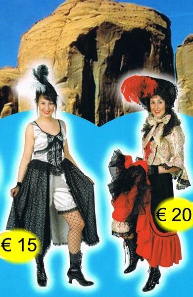 Saloon dame grijs - Saloon dame hoed - t