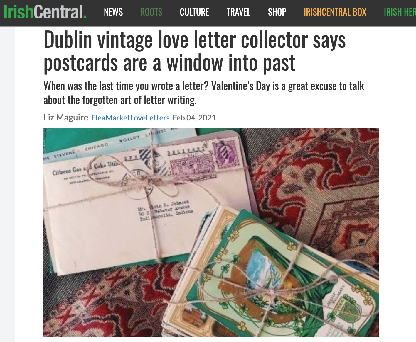 """Dublin vintage love letter collector says postcards are a window into past"""