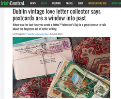 """""""Dublin vintage love letter collector says postcards are a window into past"""""""