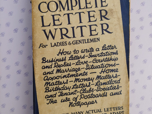 """Writing Through the Decades: """"Everybody's Complete Letter Writer""""(Pre-1970s)"""