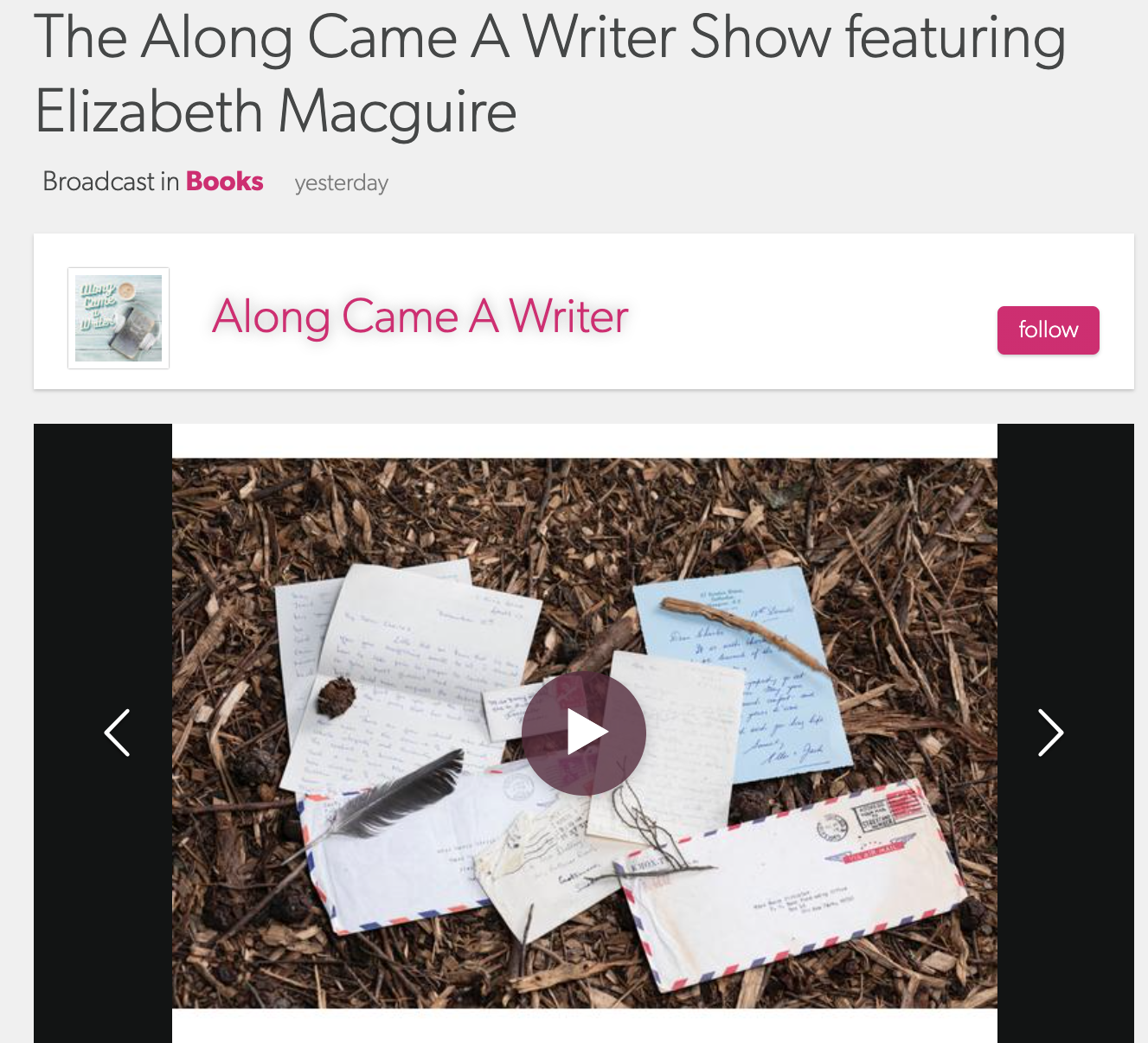 Along Came a Writer with Linda Kozar