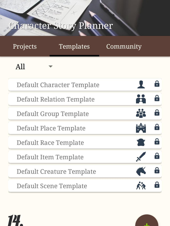 14. Template list (can custom-make templates)