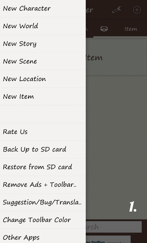 1. Slide-in side menu