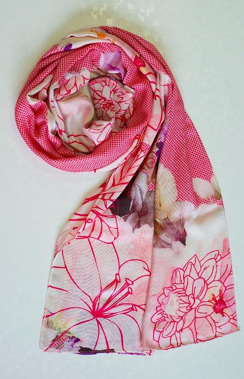 102/1 - Printed viscose scarf