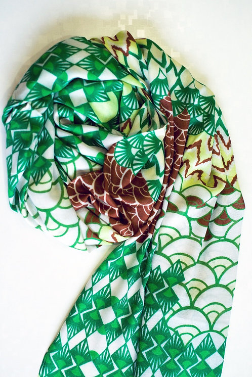 101/2 - Printed viscose scarf