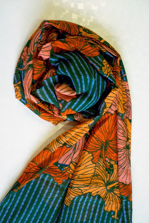 104/1 - Printed cotton scarf