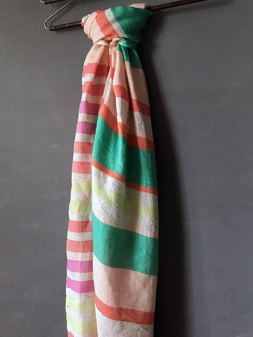 120/1 - Stripe cotton scarf