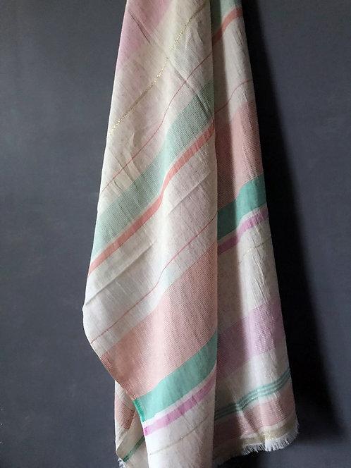 119/1 - Stripe cotton scarf