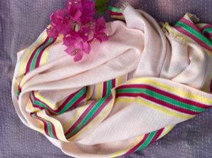 138/2 - Stripe border scarf
