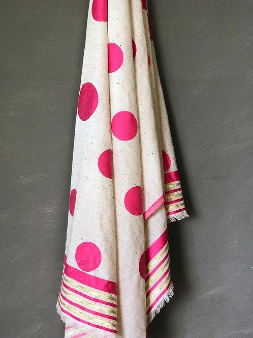 108/4 - Dots satin scarf