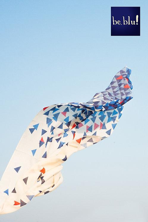 111/1 - Printed cotton silk scarf