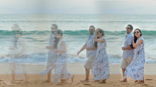 Pre-wedding on sun kissed beaches, with gentle caress