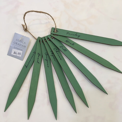 Copy of Set of 8 green wooden herb markers