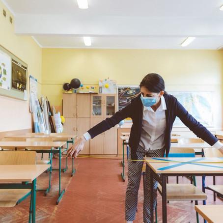 Distanciamento social e higiene para as aulas presenciais