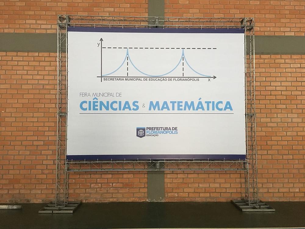 Banner da Feira Municipal de Ciências & Matemática de Florianópolis