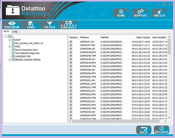 Datattoo file recovery and rescue software