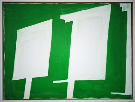 White Billboards on Green 1989