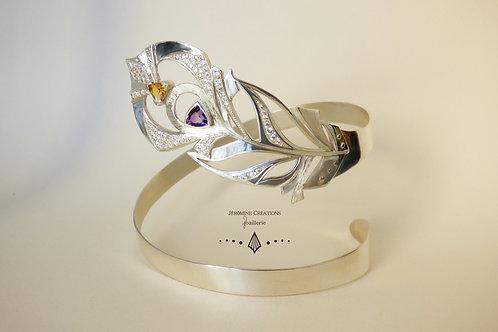 Bracelet Plume de paon Royal