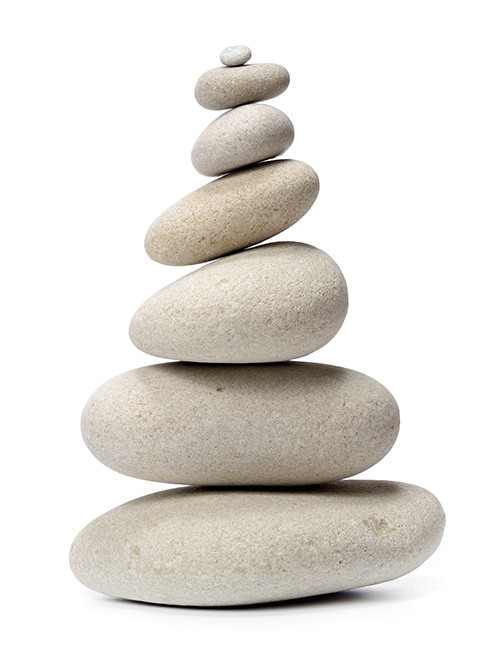 A stack of stones to represent the spine