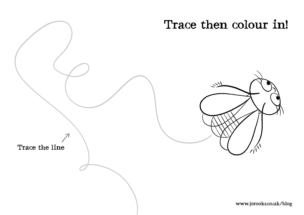 Trace then colour in!