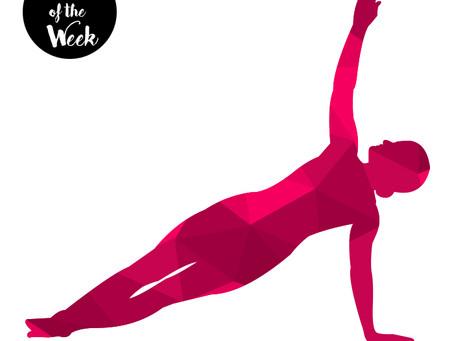 Pose of the week - Side Plank (Vasisthasana)