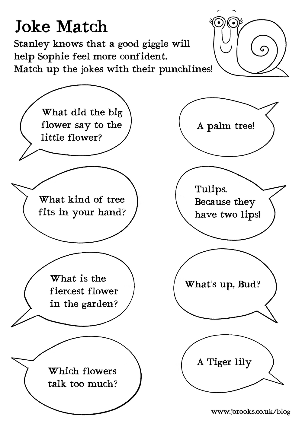 Joke match downloadable resource