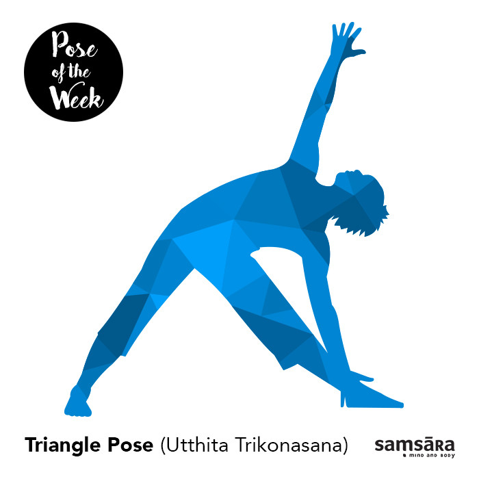 Pose of the week - Triangle pose