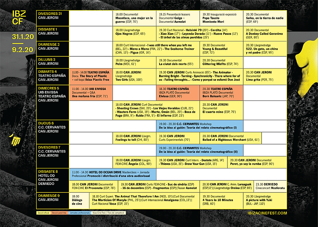 PROGRAMA IBIZACINEFEST 2020