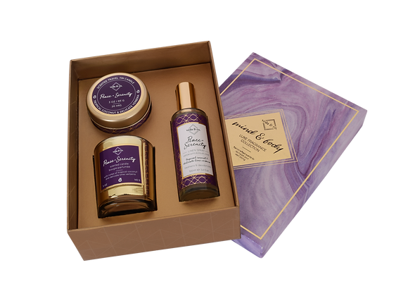 Mind & Body Pick Three Assorted Gift Set in Purple