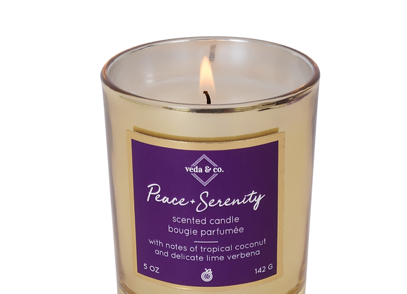 Peace & Serenity Gilded Glass Candle