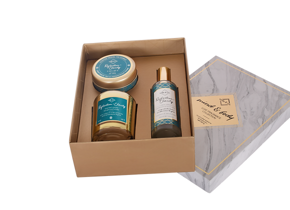 Mind & Body Pick Three Assorted Gift Set in White