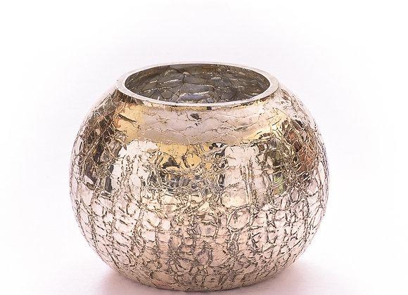 Gilded Crackle Glass Jar