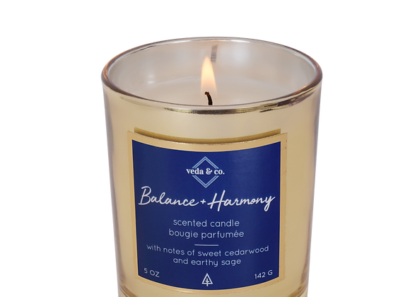 Balance & Harmony Gilded Glass Candle