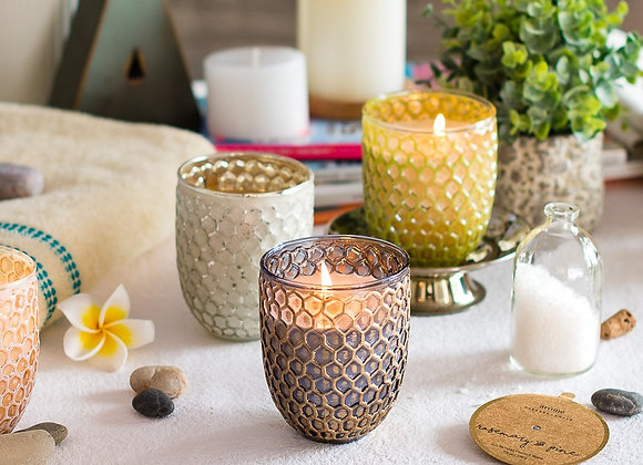 Honeycomb Sunrise Jars